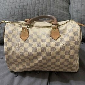 Authentic Louis Vuitton Ebene Azur Speedy 30 satc
